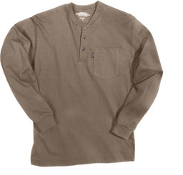865.24 Heavyweight 3-Button Henley Pocket T-Shirt - Long Sleeve