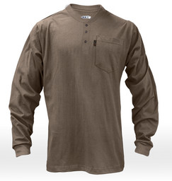 855.24 FR Long Sleeve 3-Button Henley