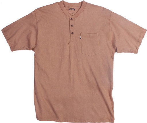 825.24 Heavyweight 3-Button Henley Pocket T-Shirt - Short Sleeve